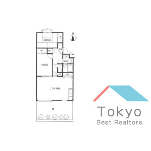 2LDK Mansion in Shimoma - Setagaya-ku Floorplan