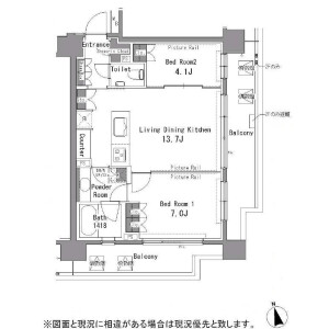 2LDK Apartment in Sakuragaokacho - Shibuya-ku Floorplan