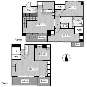 3LDK Apartment in Higashiyamamotomachi - Nagoya-shi Chikusa-ku Floorplan