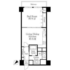 1LDK Mansion in Minamishinagawa - Shinagawa-ku Floorplan