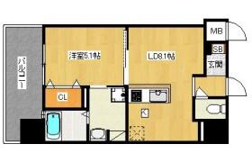 福岡市中央区 渡辺通 1LDK {building type}
