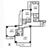 3LDK Apartment to Rent in Koganei-shi Floorplan