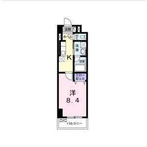 1K Mansion in Sakaecho - Yokohama-shi Kanagawa-ku Floorplan