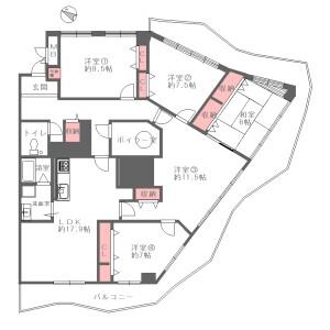 5LDK {building type} in Toneyama - Toyonaka-shi Floorplan