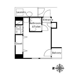 1R Mansion in Higashiogu - Arakawa-ku Floorplan