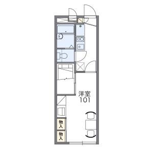 1K Apartment in Katakura - Yokohama-shi Kanagawa-ku Floorplan