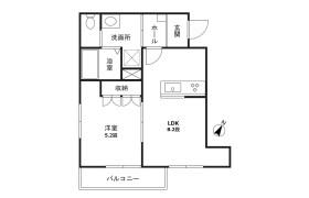 1LDK Apartment in Yukigayaotsukamachi - Ota-ku