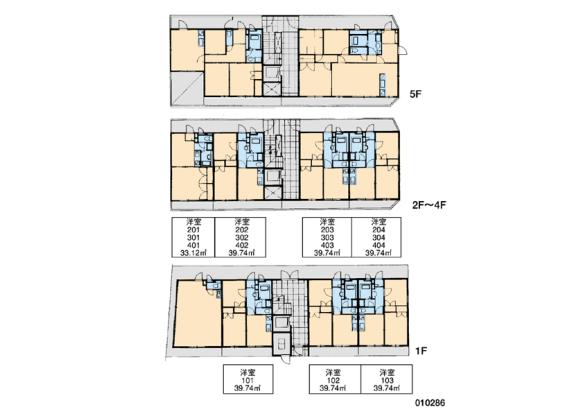 2DK Apartment to Rent in Kawasaki-shi Miyamae-ku Floorplan