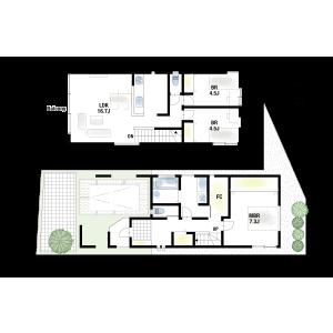 豊中市岡町南-3LDK{building type} 房間格局