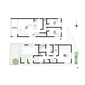 3LDK {building type} in Okamachi minami - Toyonaka-shi Floorplan