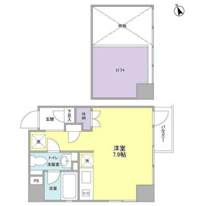 澀谷區代々木-1R公寓大廈 房間格局