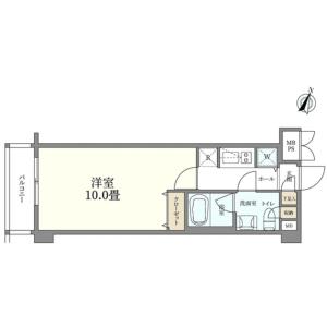 大田區久が原-1K{building type} 房間格局