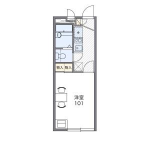 1K Apartment in Kitano - Niiza-shi Floorplan