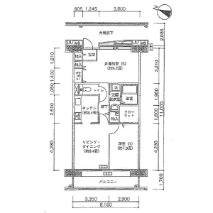 2LDK Apartment in Kamimeguro - Meguro-ku Floorplan