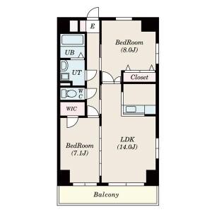 2LDK Mansion in Chiyoda - Nagoya-shi Naka-ku Floorplan