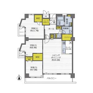 3LDK {building type} in Momoyamadai - Suita-shi Floorplan