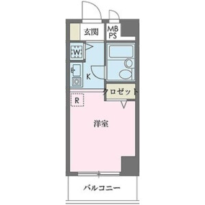 1R Apartment in Honcho - Kokubunji-shi Floorplan