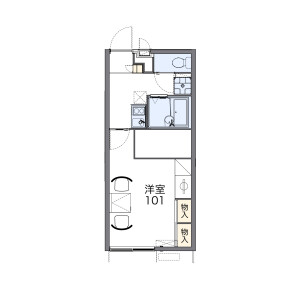 1K Apartment in Korimoto - Ichihara-shi Floorplan