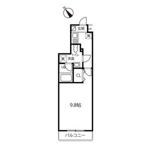 1K Apartment in Kemigawacho - Chiba-shi Hanamigawa-ku Floorplan