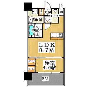 1LDK Mansion in Kikawahigashi - Osaka-shi Yodogawa-ku Floorplan