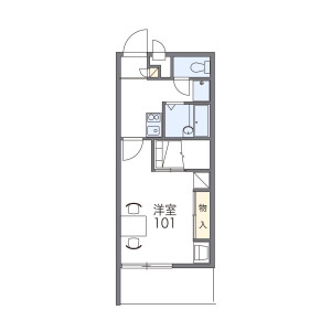 1K Mansion in Shimotsuruma - Yamato-shi Floorplan