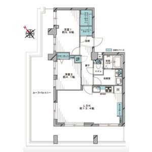 2LDK {building type} in Sakamachi - Shinjuku-ku Floorplan