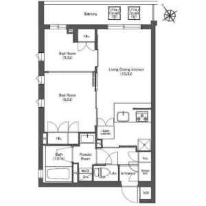 2LDK Mansion in Nishigotanda - Shinagawa-ku Floorplan