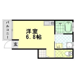 神戸市東灘区本山北町-1R公寓大厦 楼层布局