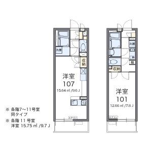 1K Apartment in Niizominami - Toda-shi Floorplan