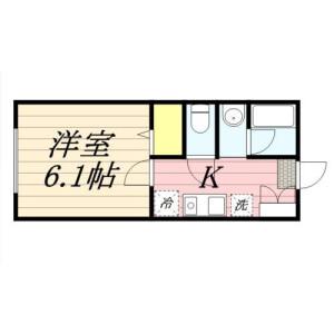 1K Apartment in Nishiaraisakaecho - Adachi-ku Floorplan