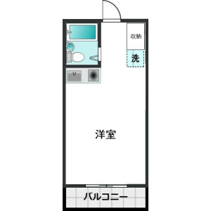 1R Mansion in Sakuramori - Yamato-shi Floorplan