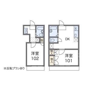 1K Apartment in Higashikashiwagaya - Ebina-shi Floorplan