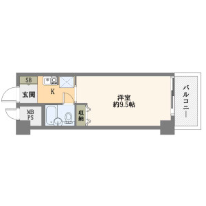 1K {building type} in Shinimazato - Osaka-shi Ikuno-ku Floorplan