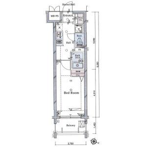 1K Apartment in Nihonzutsumi - Taito-ku Floorplan