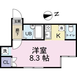 小金井市前原町-1R公寓 房間格局