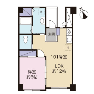 1LDK Mansion in Kamiogi - Suginami-ku Floorplan