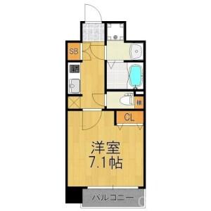 1K Apartment in Uematsucho(shomendorinishinotoinnishiiru.nishinotoindorishomensagaru) - Kyoto-shi Shimogyo-ku Floorplan