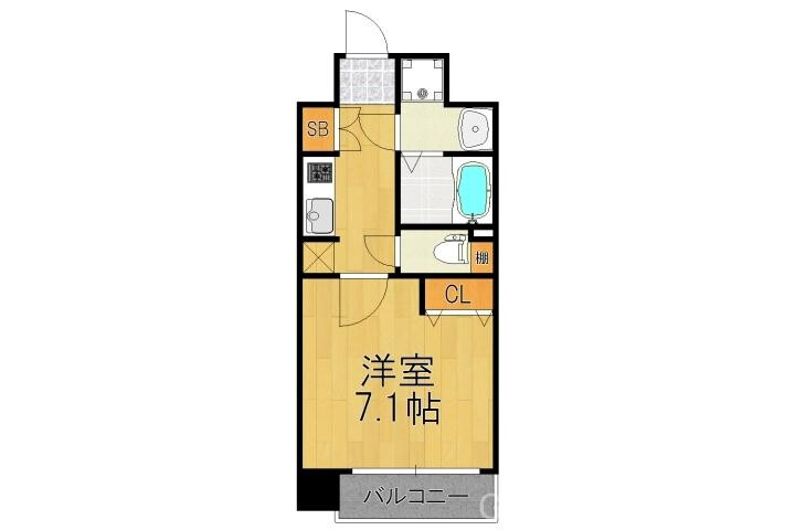 1K Apartment to Buy in Kyoto-shi Shimogyo-ku Floorplan