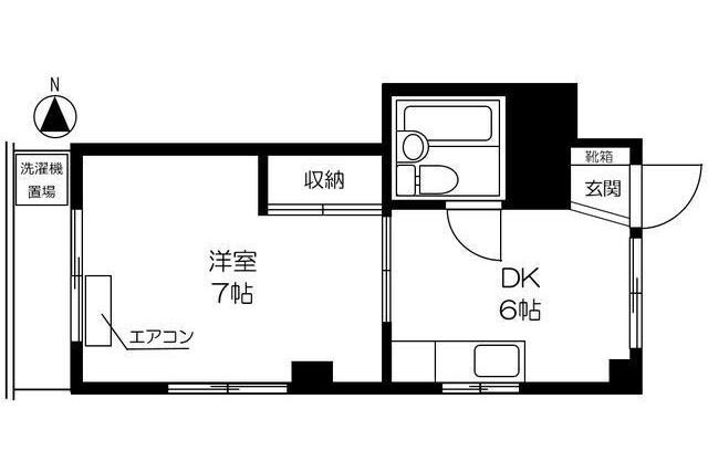 1DK Apartment to Rent in Toshima-ku Floorplan
