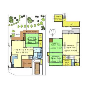 4SLDK House in Utano oikecho - Kyoto-shi Ukyo-ku Floorplan