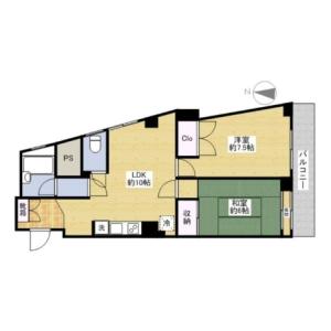 2LDK Mansion in Kitamagome - Ota-ku Floorplan