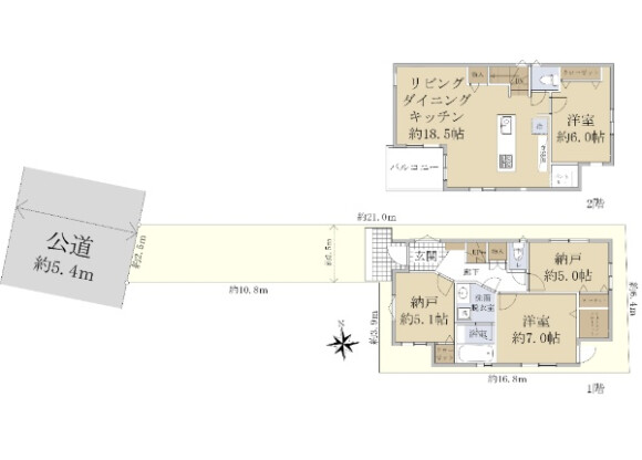 2SLDK House to Buy in Suginami-ku Floorplan