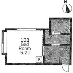 川崎市多摩区 - 栗谷 公寓 1K 房間格局