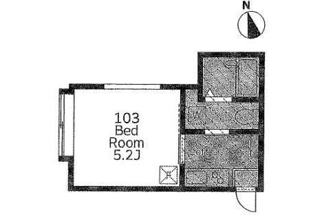 在Kawasaki-shi Tama-ku內租賃1K 公寓 的房產 房間格局