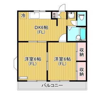 2DK Mansion in Miyazaki - Kawasaki-shi Miyamae-ku Floorplan