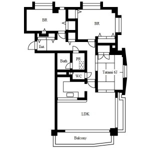 3LDK Mansion in Kamenoi - Nagoya-shi Meito-ku Floorplan
