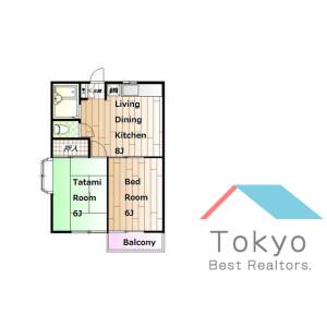 2DK Apartment in Nishiochiai - Shinjuku-ku Floorplan