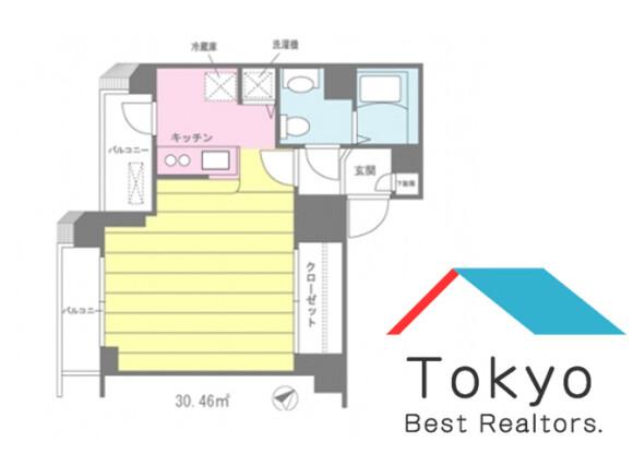 1K Apartment to Rent in Shinagawa-ku Floorplan