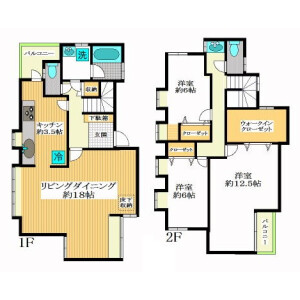3LDK Terrace house in Yoyogi - Shibuya-ku Floorplan