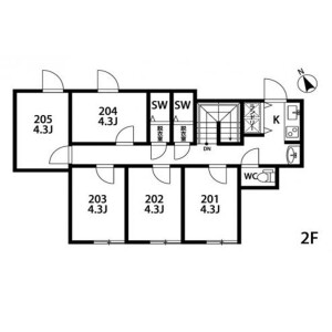 262【Machiya】STEP CLOUD - Guest House in Arakawa-ku Floorplan